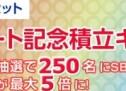 【抽選】SBI証券、NISA口座で対象ファンドの投信積立で抽選で250名に2,000ポイントプレゼント