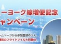 JAL・アメリカン航空、東京(成田)?ニューヨーク線増便記念ダブルマイルキャンペーン