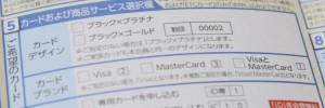 VisaとMasterCardの2枚選択可能