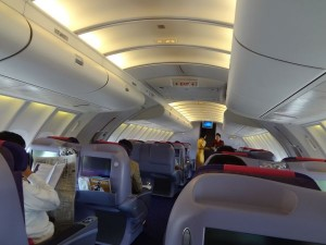 タイ国際航空のビジネスクラスシート