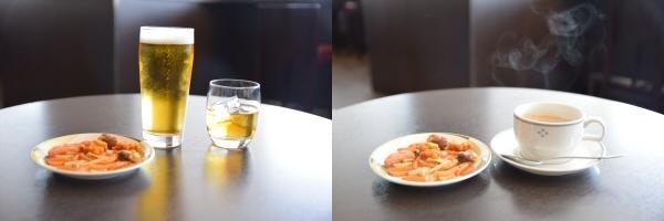 サクララウンジではお酒なども無料