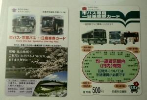 京都バスの1日乗車券
