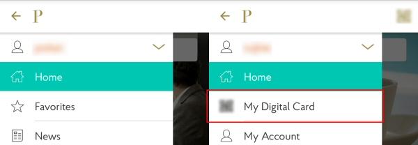 プライオリティ・パスのアプリのメニューの違い