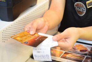 店頭でタリーズカードにクレジットカードチャージをしてみた