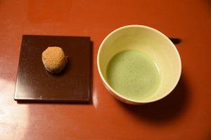 祇園畑中の抹茶サービス