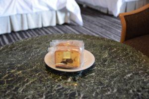 ホテルニューオータニ大阪での一休ダイヤモンド会員特典 焼き菓子の確認