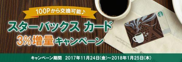 三井住友カード、ワールドプレゼントのポイントからスターバックス カードへの交換で3%増量キャンペーンを実施
