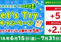 三井住友カード、ココイコ!で+5倍のポイントまたは+2.5%のキャッシュバックキャンペーンを実施