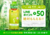伊藤園、「お~いお茶 新緑」のペットボトルで50 LINEポイントを獲得できるキャンペーンを開始