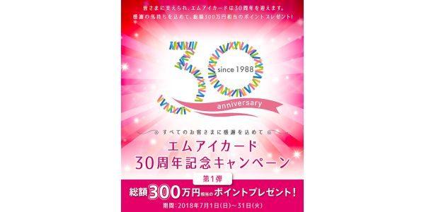 エムアイカード、総額300円相当のポイントプレゼントするキャンペーンを実施