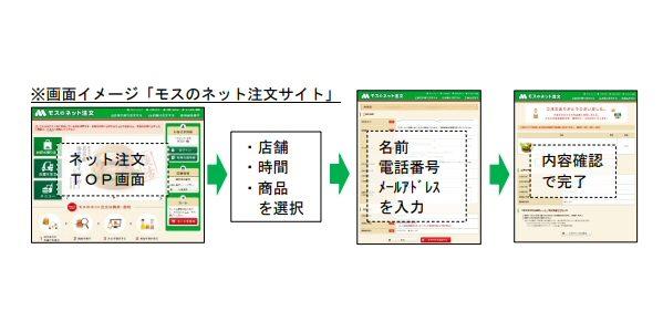 モスバーガー、インターネットで注文できるサービス「モスのネット注文」に新機能を追加