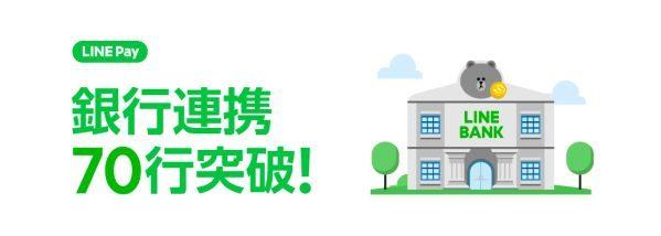 LINE Pay、大垣共立銀行と山陰合同銀行からチャージが可能に