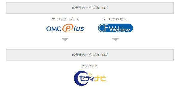 セディナ、会員サービス「OMC Plus」「CFWebiew」のサービス名称を変更