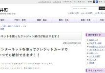 徳島県石井町、町税のクレジットカード納付を開始