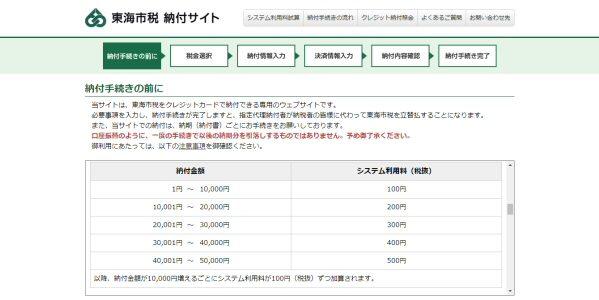 愛知県東海市、市税のクレジットカード納付を開始