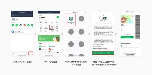 スターバックス、LINEと提携した「LINEスターバックスカード」を開始