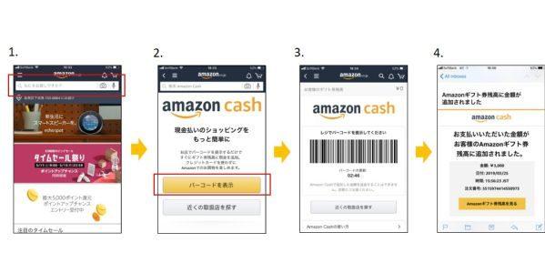 ドラッグストアなどでAmazonギフト券にバーコードで簡単にチャージできるAmazon Cashが開始