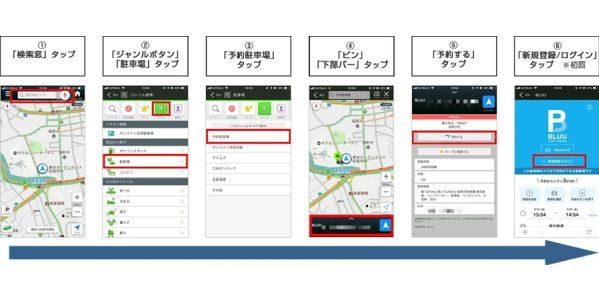 Yahoo!カーナビでパーキングシェアリングサービス「BLUU Smart Parking」の利用が可能に