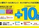 電子マネーのWAONとWAON POINTカードで対象商品が3日間ポイント10倍のキャンペーンを実施