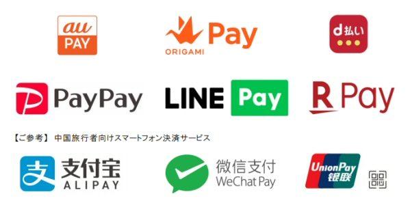 近鉄百貨店、au PAYやOrigami Payなどの6種類のスマホ決済サービスを導入