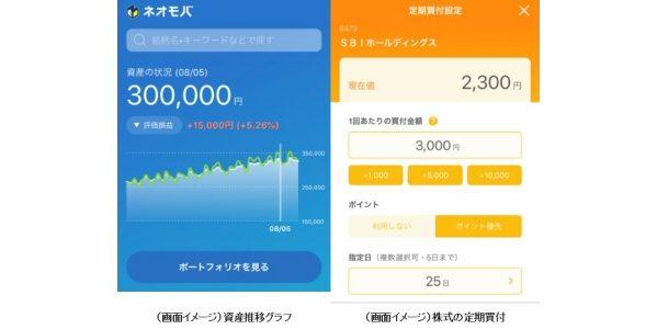 SBIネオモバイル証券、新アプリ「ネオモバアプリ」の提供を開始 Tポイントを使っての定期買付にも対応