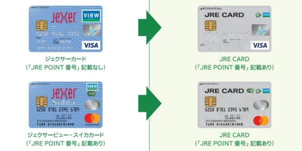 「ジェクサーカード」「ジェクサービュー・スイカカード」がJRE CARDに統合