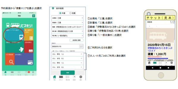三重交通、スマホで利用できる「デジタル伊勢鳥羽みちくさきっぷ1DAY」を発売開始