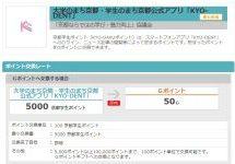 「大学のまち京都・学生のまち京都」公式アプリ KYO-DENTからGポイントギフトへの交換を開始