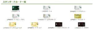 三井住友カードのスタンダードカード一覧