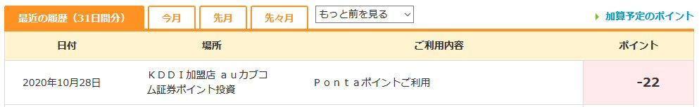 nta WebでPontaポイントを確認