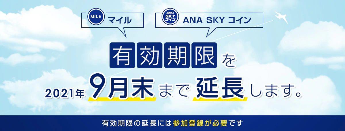 ANA、マイルとANA SKYコインの有効期限を特別延長 参加登録が必要