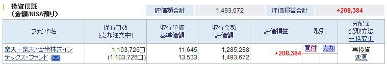 SBI証券の投資信託を売却