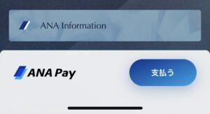 ANAマイレージクラブカードにANA Payメニューが表示