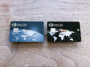 ダイナースクラブ プレミアムカード(左が旧デザイン、右が新デザイン)