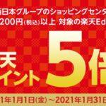 JR西日本グループのショッピングセンターで楽天Edyを使うと楽天ポイント5バイキャンペーンを実施