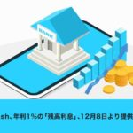 Kyash、年利1%の「残高利息」の提供を開始 銀行口座やセブン銀行ATMなどでの入金が対象