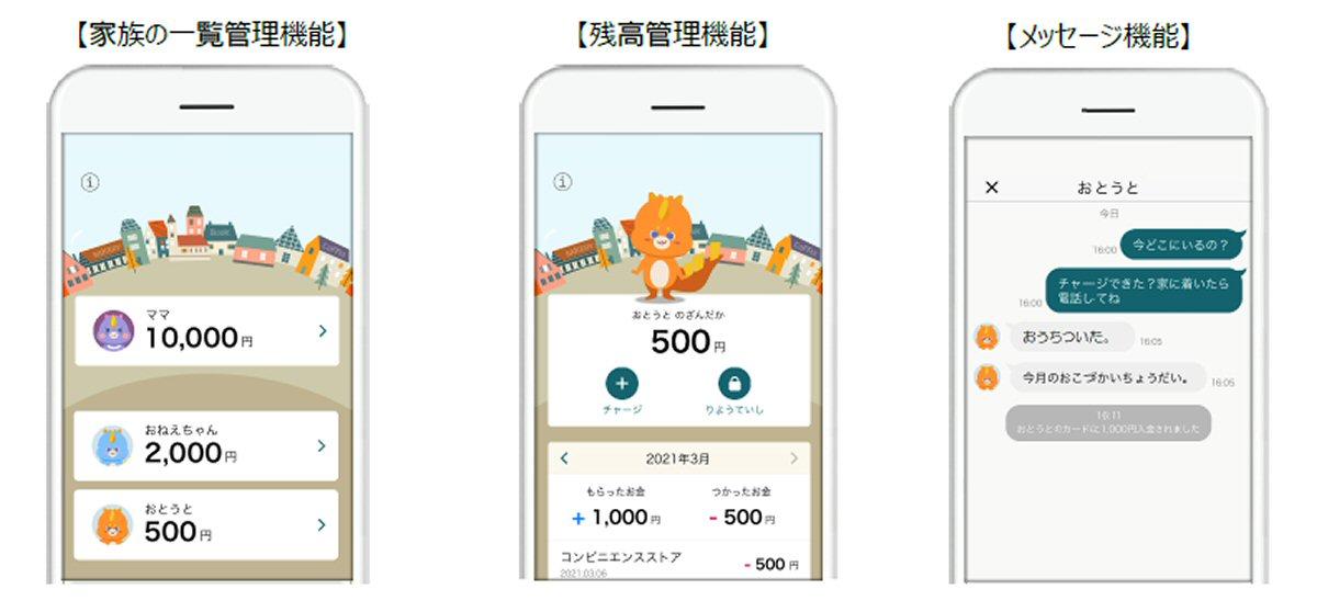 三井住友カード、「かぞくのおさいふアプリ」をリリース