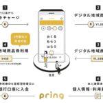 送金アプリ「pring」でデジタル地域商品券の発行が可能に