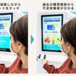 買い物データから食事管理をするアプリ「SIRU+」で、検温・消毒機能付きサイネージ「SAFIMA」と連携 来店者の栄養傾向に合わせてコンテンツを配信できるサービス開始