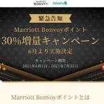 モッピー、Marriott Bonvoyポイントの30%増量キャンペーンを実施