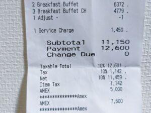 ヨコハマ グランド インターコンチネンタル ホテルでの朝食