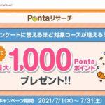 Pontaリサーチ、抽選で最大1,000 Pontaポイント当たるキャンペーンを開始