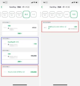 FamiPayでAmazonギフト券のチャージを行う