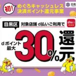 東京都目黒区、d払いで最大30%のdポイントを還元するキャンペーンを実施